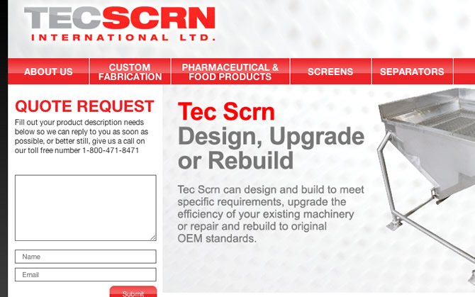 New Site Launch! Tecscrn.com