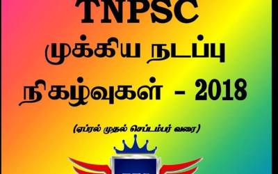 Tnpsc Current Affairs (April-September)2018