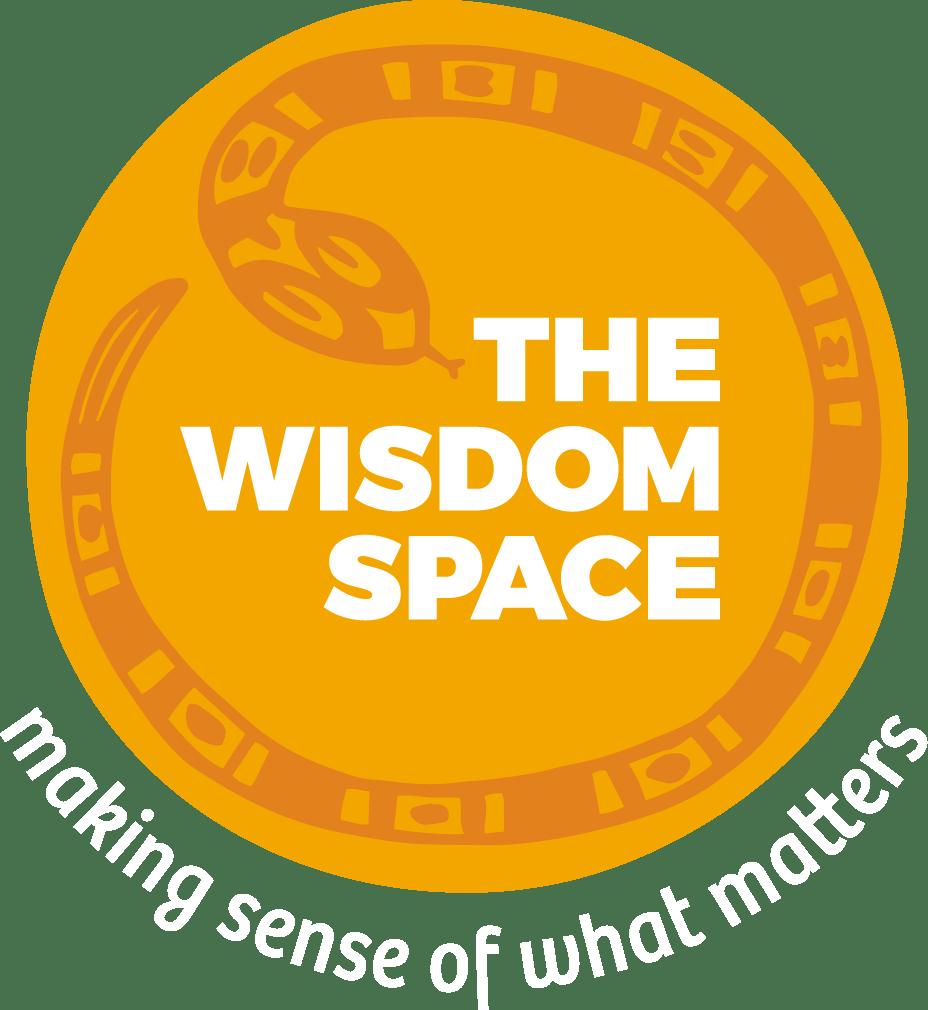 The Wisdom Space Logo white strap