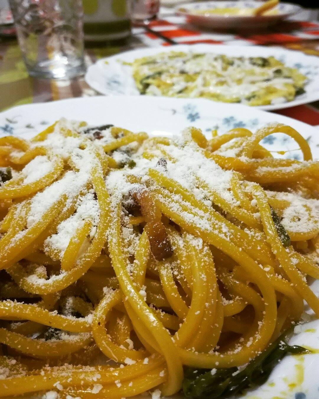 theWise in cucina: Carbonara all'asparago selvatico