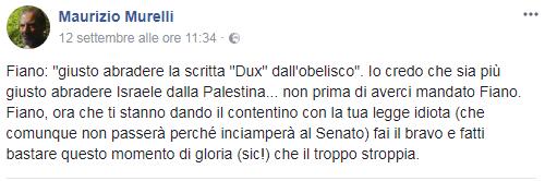 """La reazione di Maurizio Murelli, protagonista del """"Giovedì Nero"""", alla Legge Fiano."""