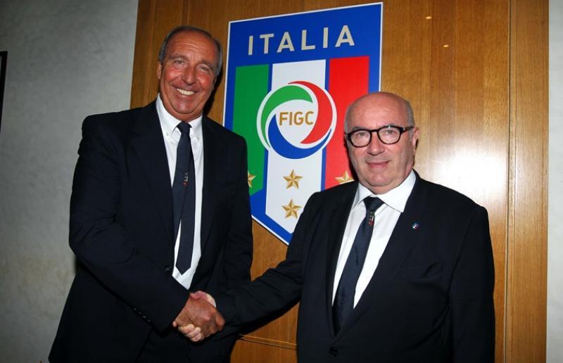 Gian Piero Ventura, ex-allenatore dell'Italia e Carlo Tavecchio, presidente della FIGC. Foto: FIGC.it
