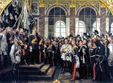 Proclamazione a Versailles del Reich (1871).