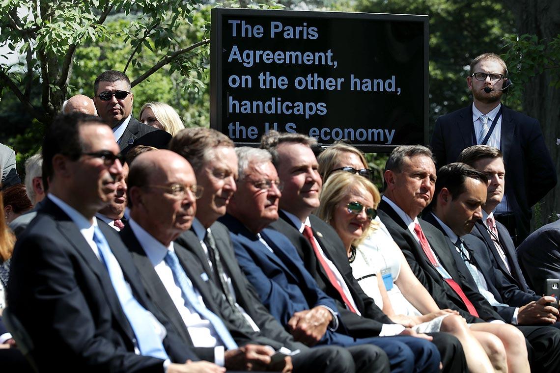 Il presidente Trump annuncia l'uscita degli USA dagli accordi di Parigi - Ecologia.