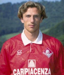 Un giovane Eusebio Di Francesco al Piacenza nella stagione 1996/97. Foto: Getty Images