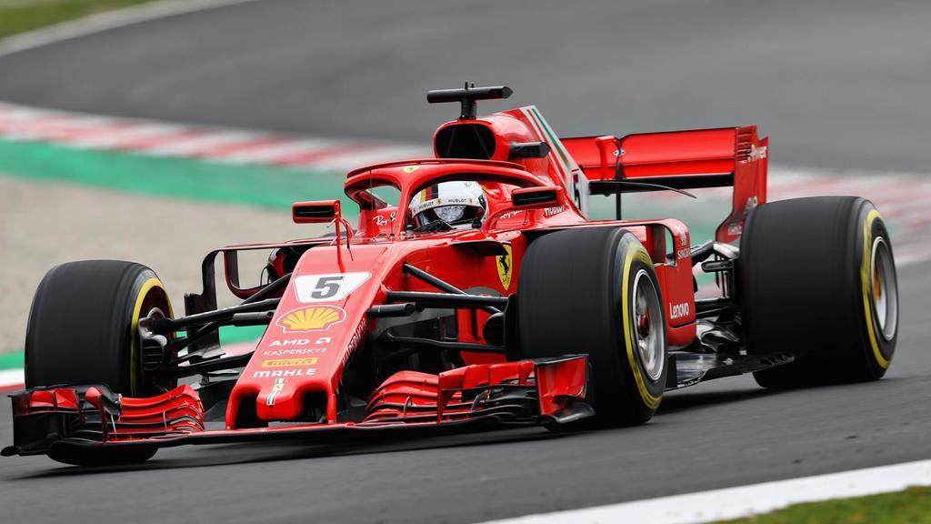 La monoposto Ferrari che correrà nel campionato di Formula 1 2018. Foto: Mark Thompson/Getty Images.