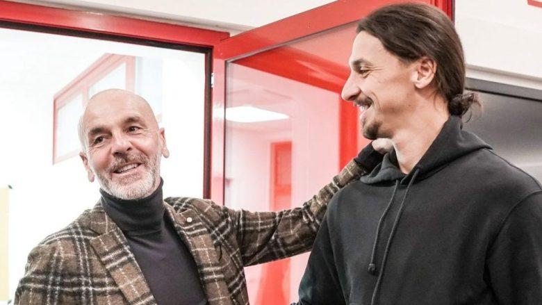 Zlatan Ibrahimovic incontra per la prima volta il suo nuovo
