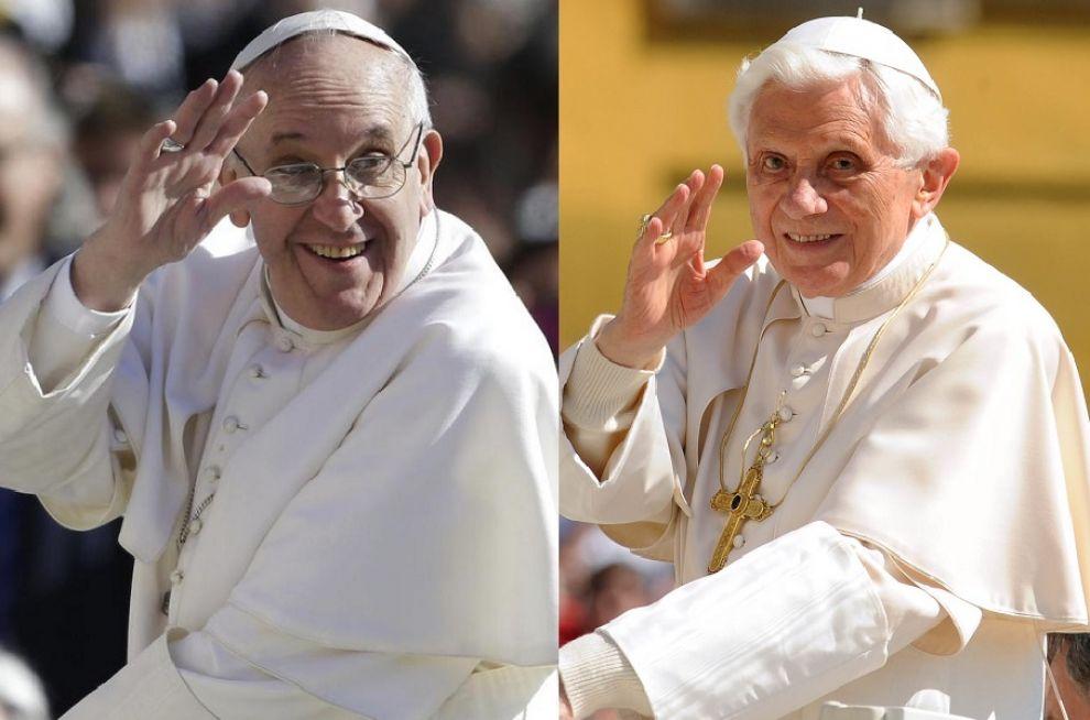 """Papa Francesco e """"l'Antipapa"""" Ratzinger"""