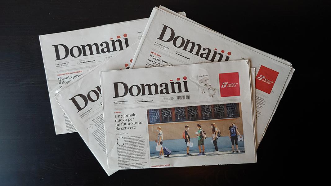 Domani, il nuovo giornale di Carlo De Benedetti e il futuro dell'informazione