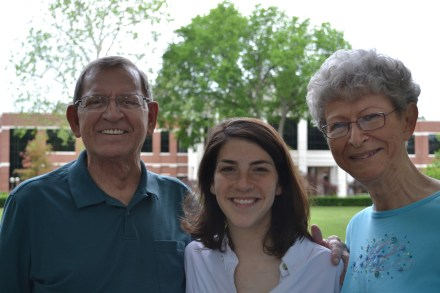 My mom and dad with our daughter on her graduation weekend.