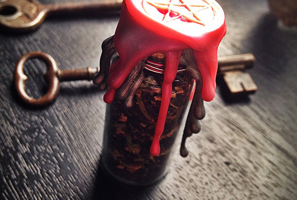 Custom Made Witch Bottle Battery