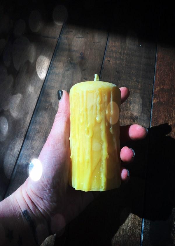 Beewax Pillar Candle