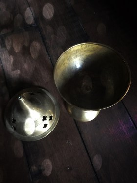 Vintage Brass Incense Stand
