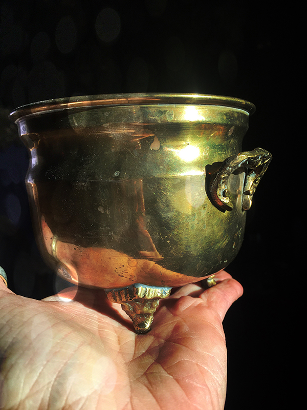 Vintage Brass Cauldron Small