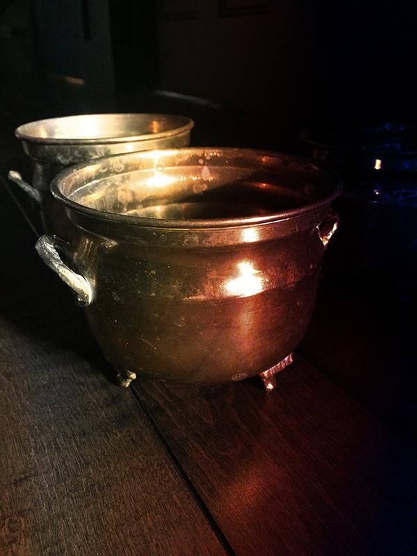 Vintage Brass Cauldron Small