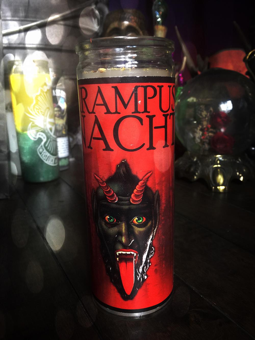 krampusnacht vigil candle