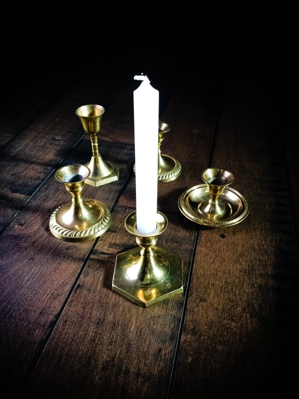 Chime Candle Holder / Spell Candle Holder / Altar Candle Holder