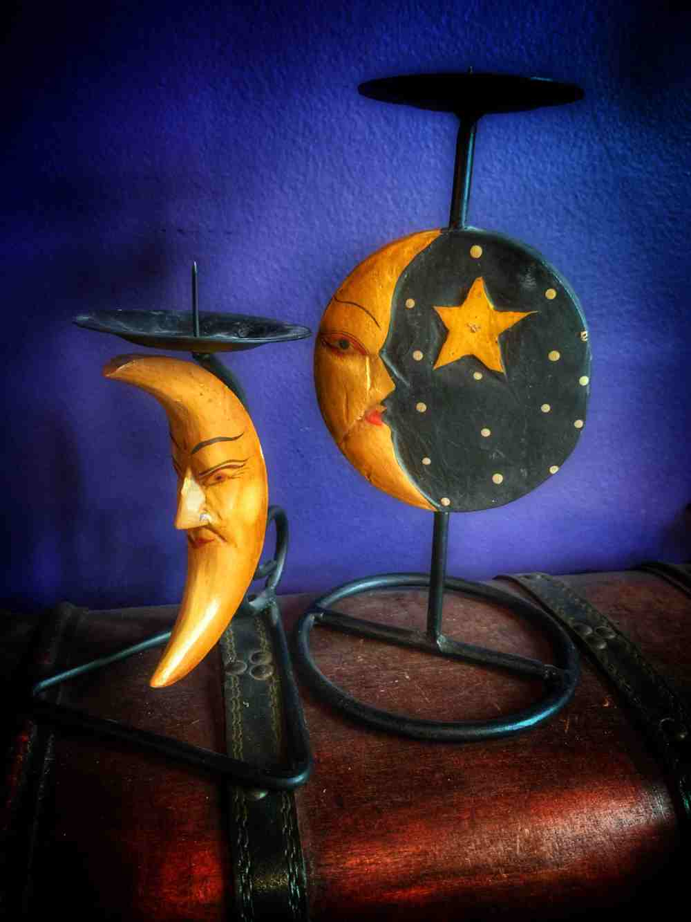 90's Sun Moon Candle Holder