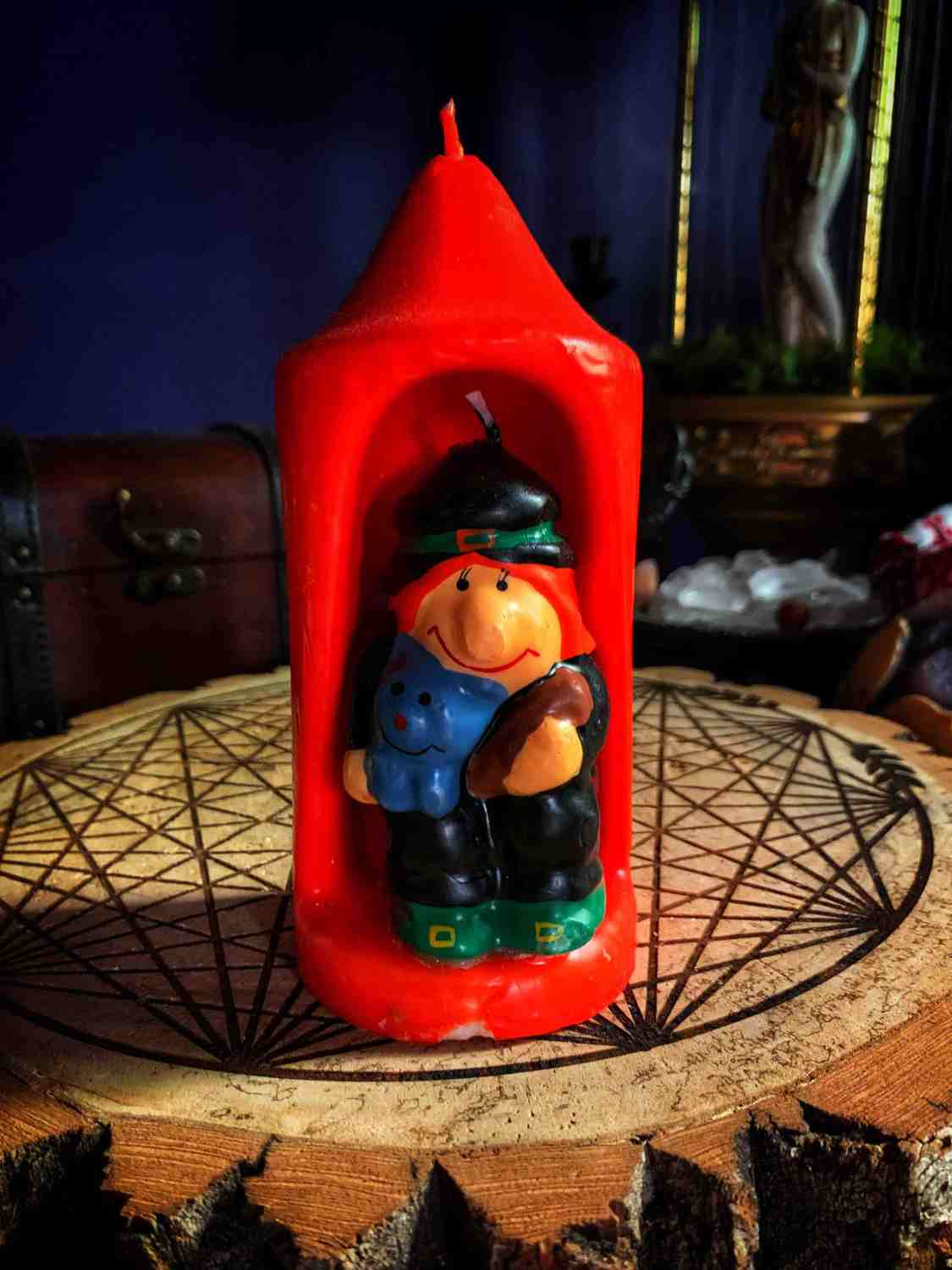 The Witch Cat Dual Candle