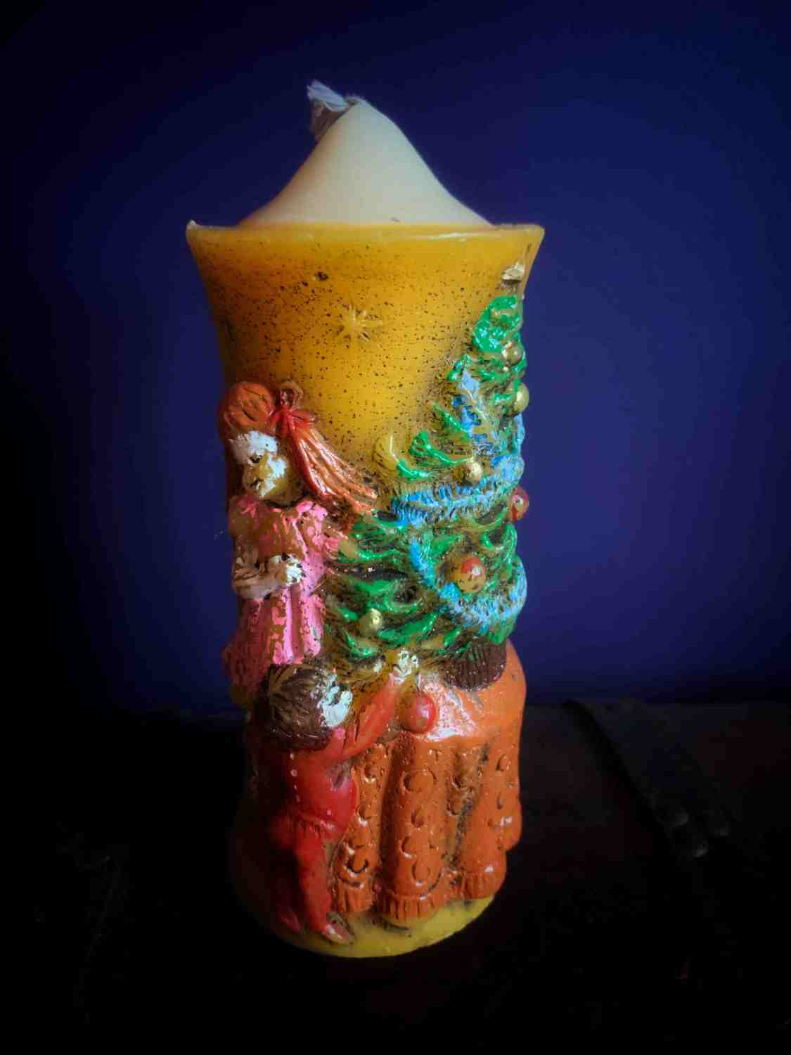 Vintage Christmas Tree Candle