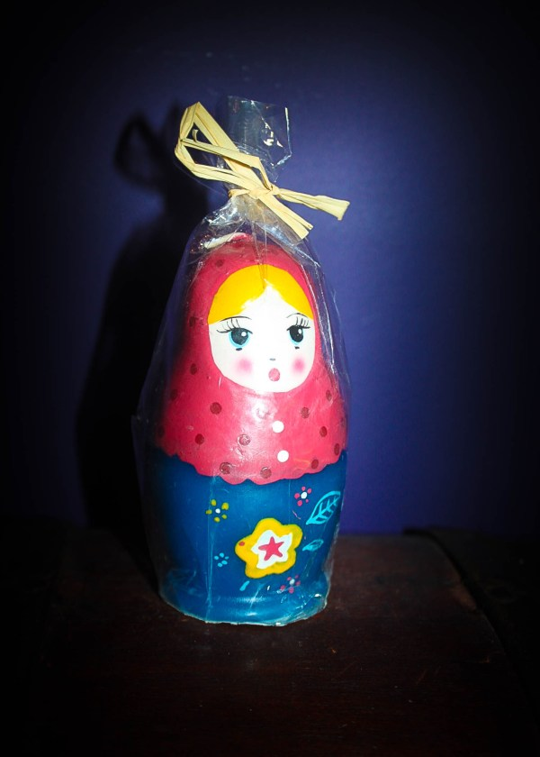 matryoshka candle