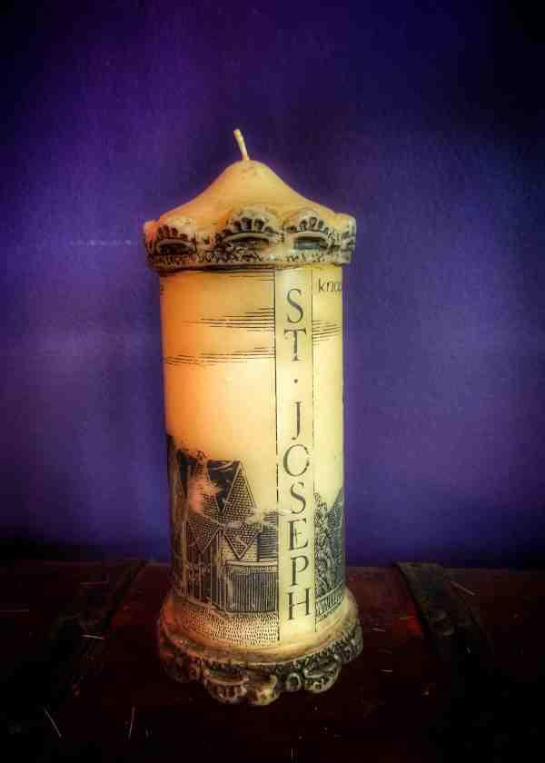 St. Joseph Candle Vintage