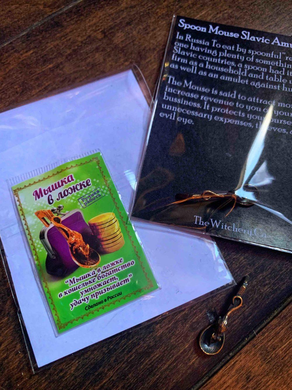Spoon Mouse Slavic Amulet