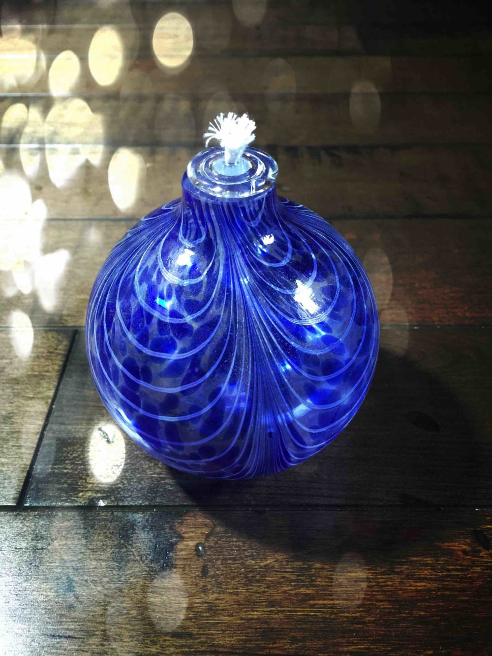 Witch Ball Oil Lamp