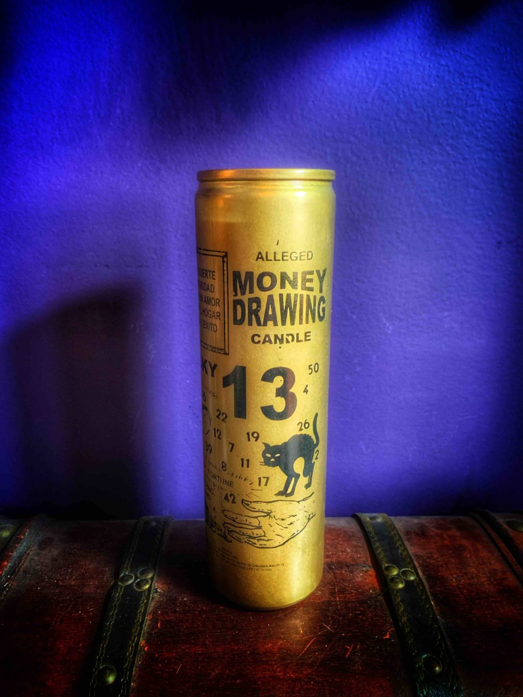 Gold Money Drawing Vigil Candle