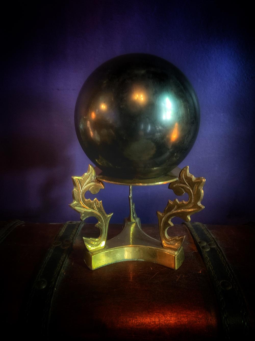 Shungite Sphere The Dark Moon