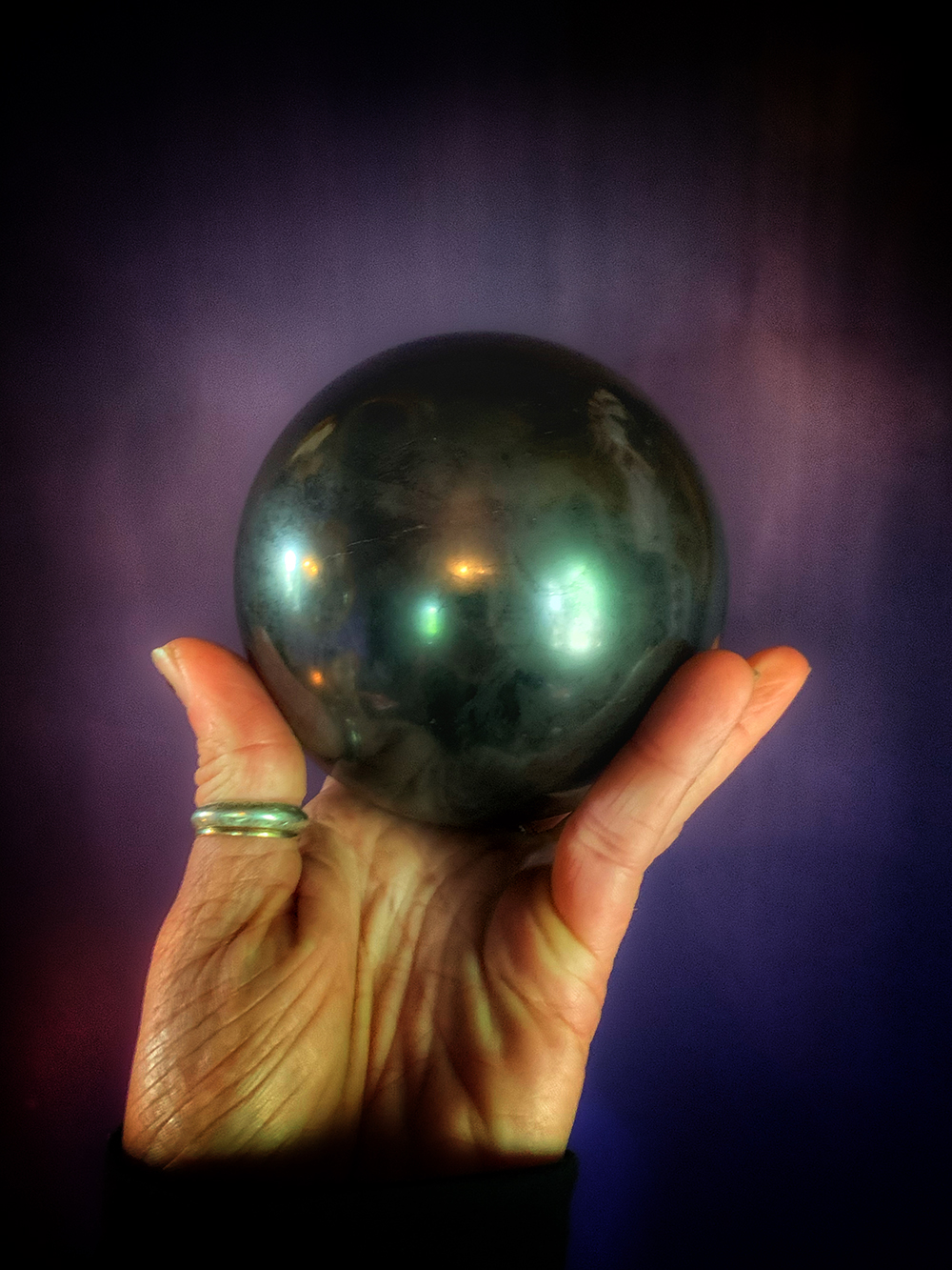Shungite Sphere The Dark Moon