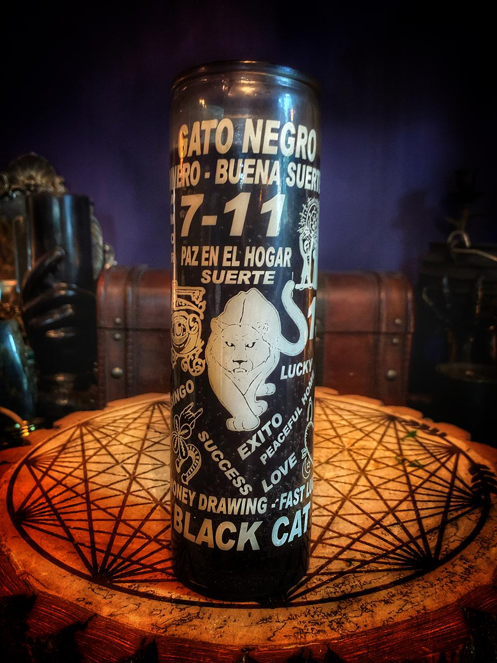 Gato Negro Vigil Candle