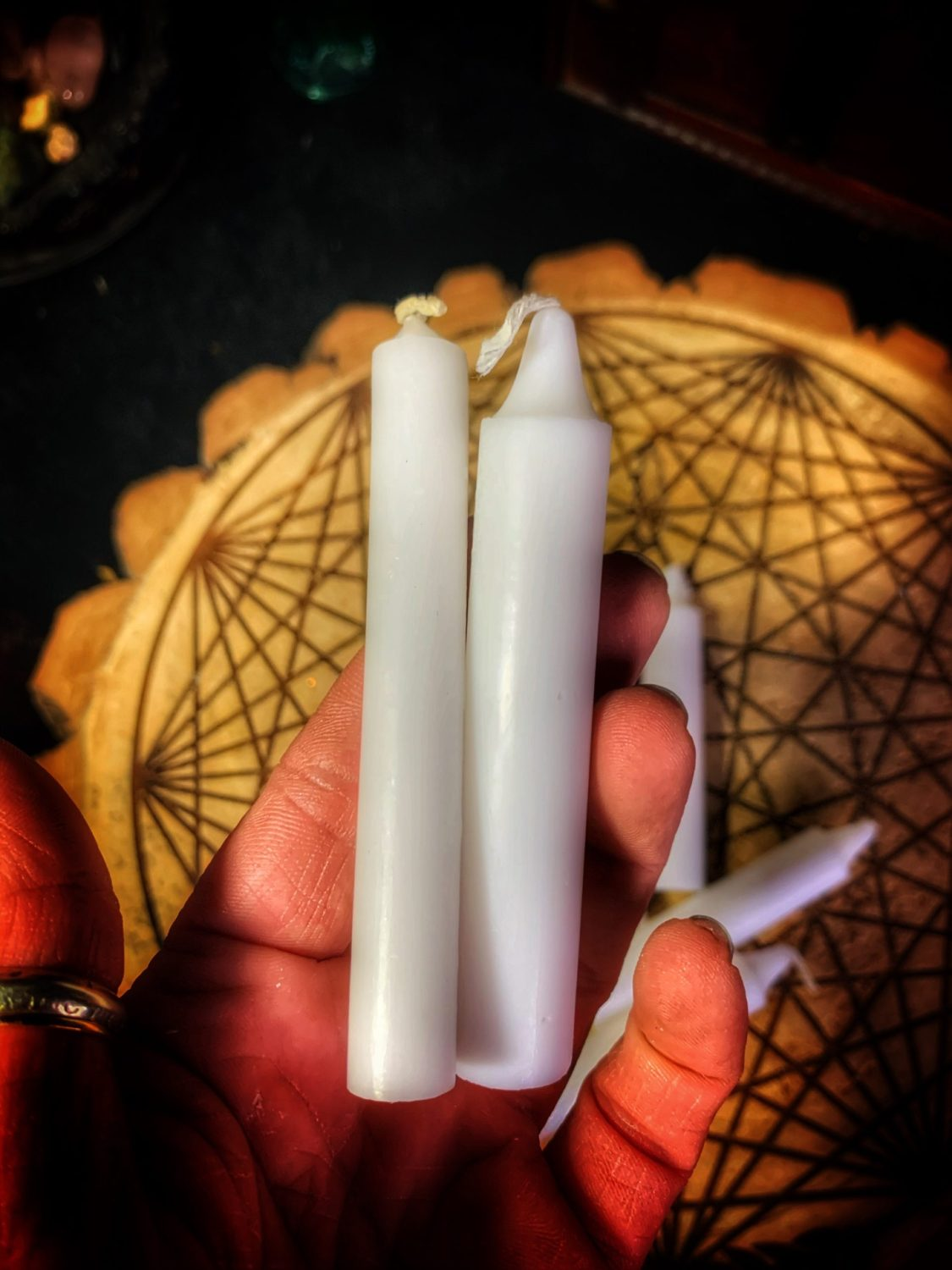 Altar Candles White Fatty 4in