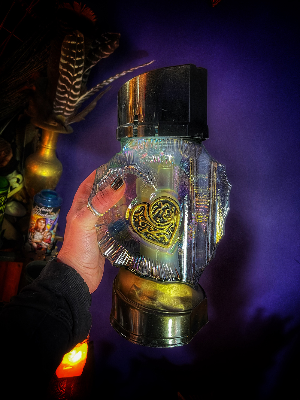 Grave Blessing Candle Heart