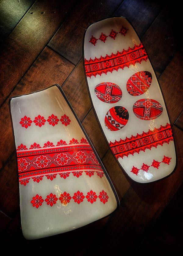 Vintage Slavic Altar Plate Fine China