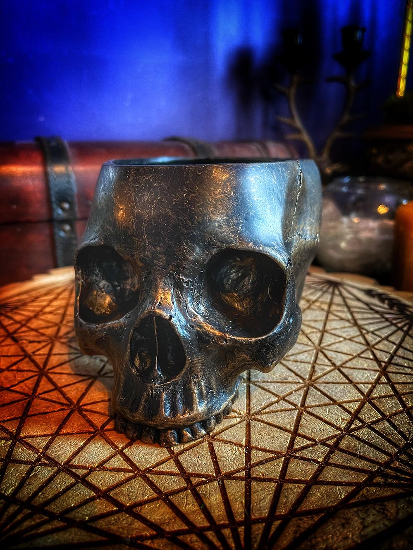 Baba Yaga's Offering Bowl Skull