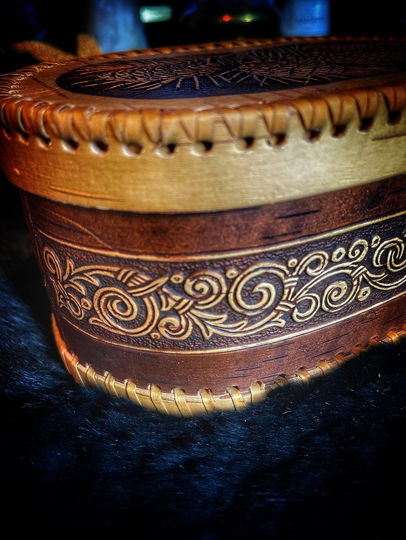 The Boruta Birch Bark Talismanic Container