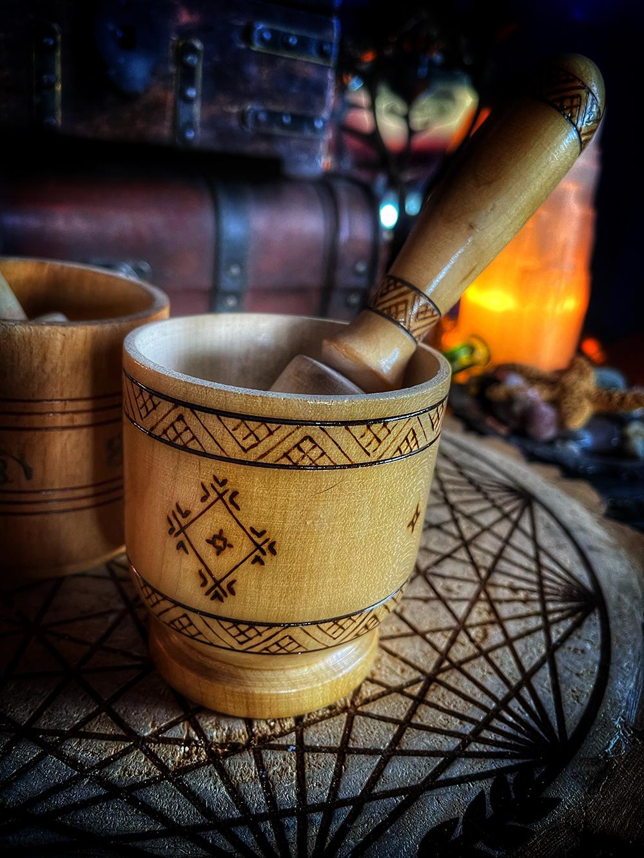 Vintage Slavic Mortar & Pestle