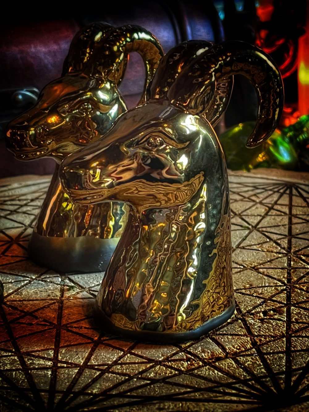 The Golden Goat of Plenty Witch Bottle