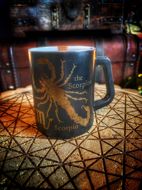 Scorpio Vintage Zodiac Mug Candle