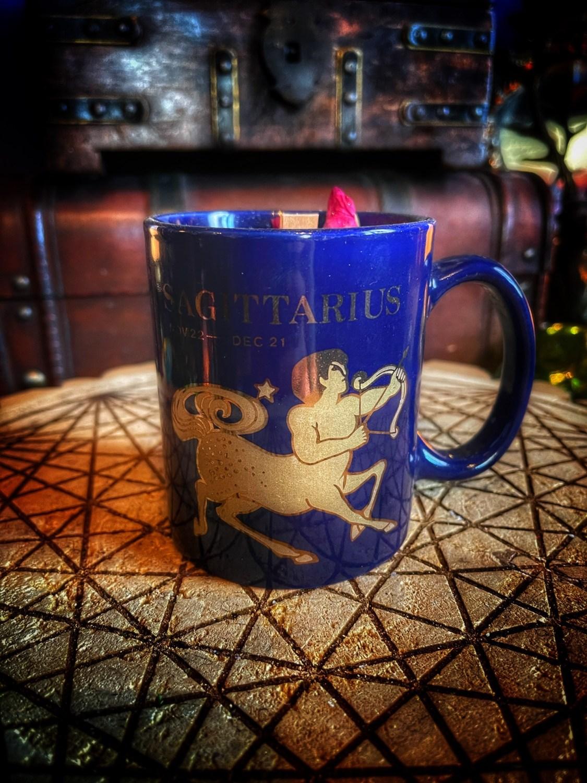 Sagittarius Vintage Zodiac Mug Candle