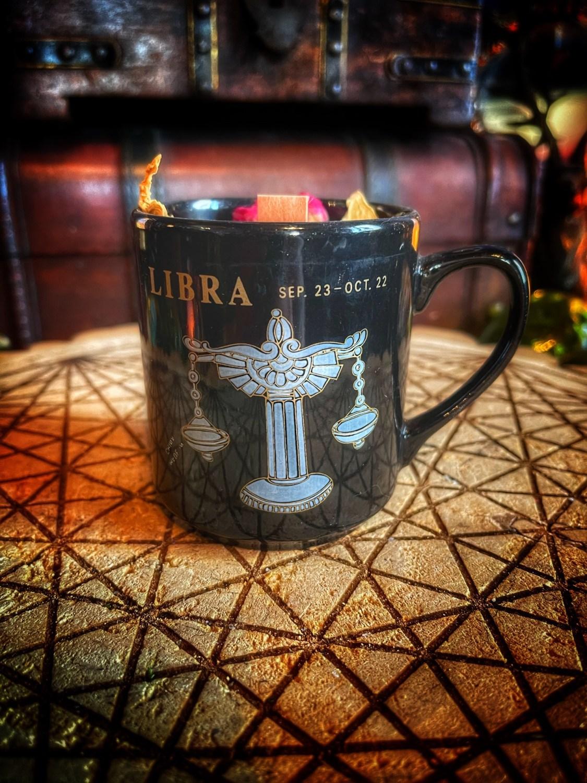 Libra Vintage Zodiac Mug Candle