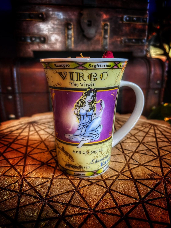 Virgo Vintage Zodiac Mug Candle