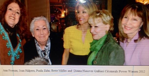 Citymeals 2013 Me Paula Bette Donna & Joan