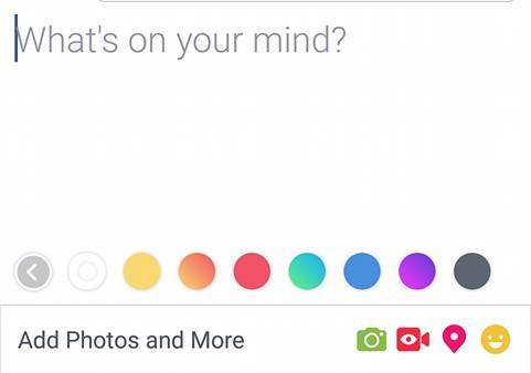 8 Colors on Facebook Status including white