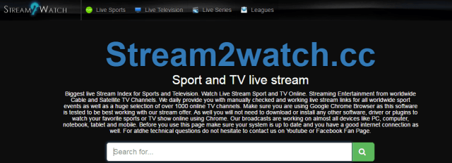 Stream2watch.cc Best sports streaming site