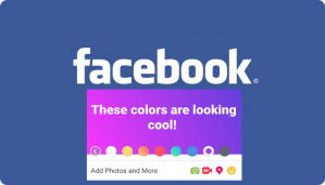 Facebook unveils a new Color Background for your Status