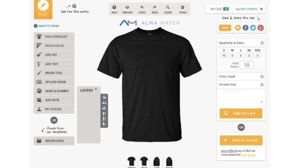 6803b88c Alma Master store is providing customizing options on variant products like  collar tee, round neck tee, Hoodie, zipper unisex, mug, and combo pack tees.
