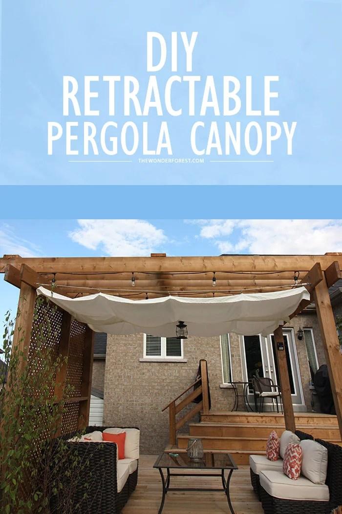 Diy Retractable Pergola Canopy Tutorial Wonder Forest