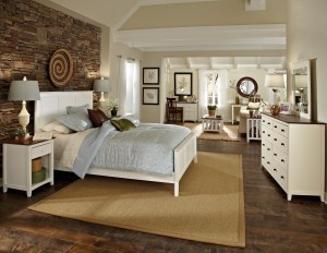 WhiteWood Lancaster Snow White Rosewood Bedroom Suite